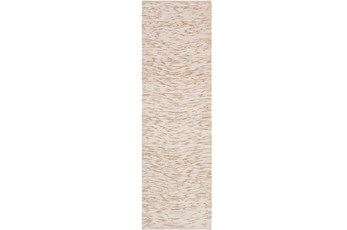 30X96 Rug-Cotton Striations Camel