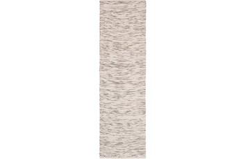 30X96 Rug-Cotton Striations Brown