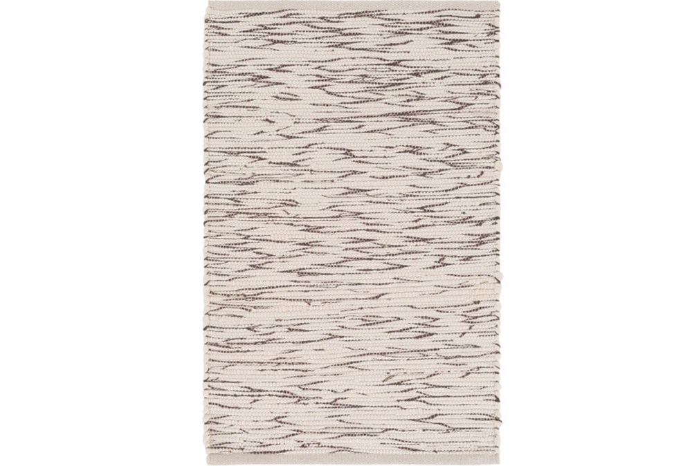 48X72 Rug-Cotton Striations Brown