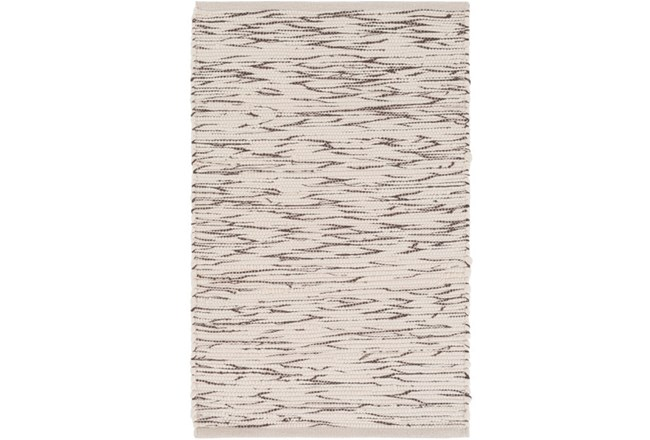48X72 Rug-Cotton Striations Brown - 360