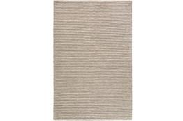 24X36 Rug-Felted Wool Stripe Grey