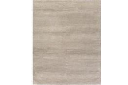 96X120 Rug-Felted Wool Stripe Grey