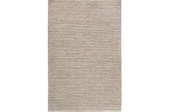 108X156 Rug-Felted Wool Stripe Grey