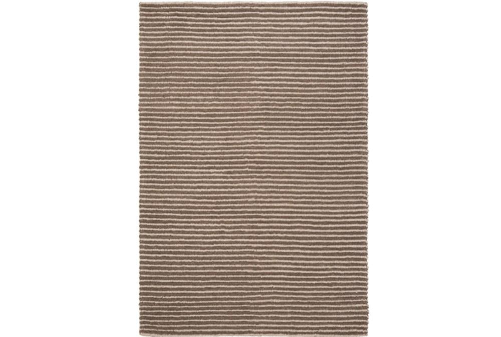 60X90 Rug-Felted Wool Stripe Brown