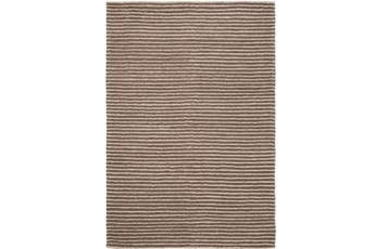 60X90 Rug-Felted Wool Stripe Brown
