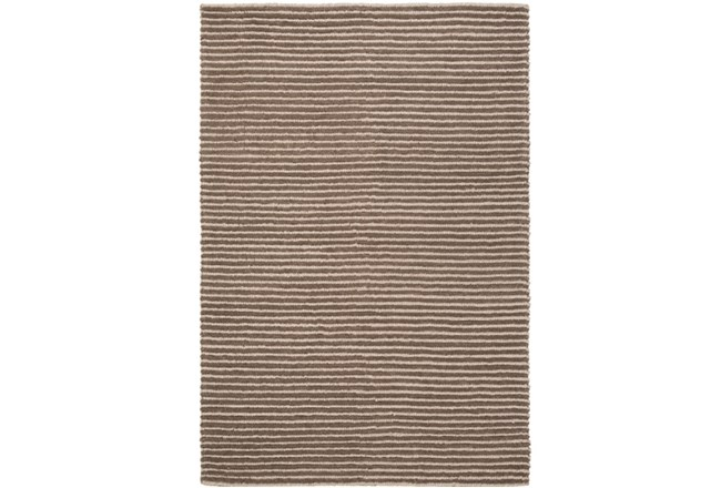 60X90 Rug-Felted Wool Stripe Brown - 360
