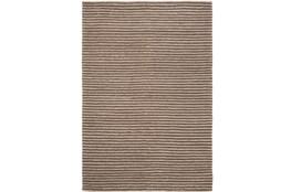 72X108 Rug-Felted Wool Stripe Brown