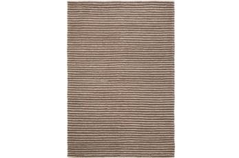 96X120 Rug-Felted Wool Stripe Brown