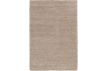 48X72 Rug-Felted Wool Stripe Tan