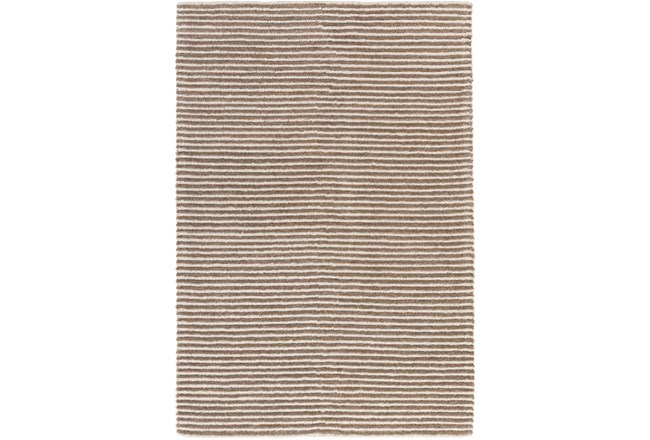 60X90 Rug-Felted Wool Stripe Tan - 360