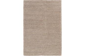 96X120 Rug-Felted Wool Stripe Tan