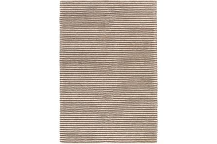 108X156 Rug-Felted Wool Stripe Tan