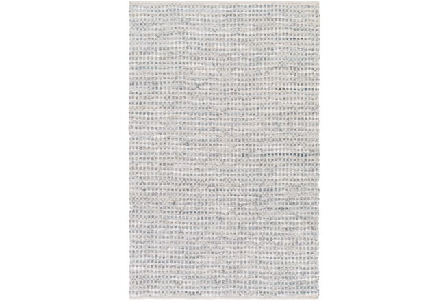 48X72 Rug-Leather And Cotton Grid Grey - 360