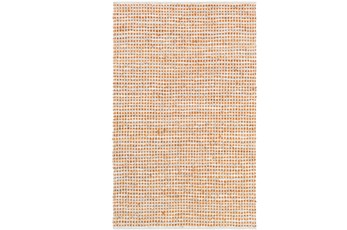 24X36 Rug-Leather And Cotton Grid Orange