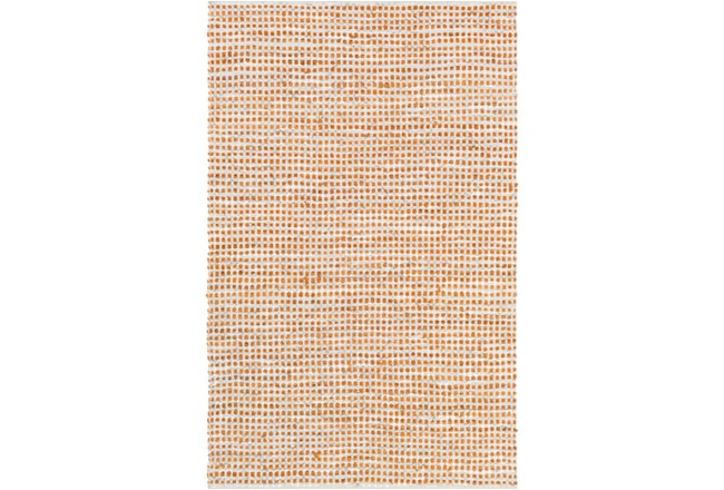 60X90 Rug-Leather And Cotton Grid Orange - 360