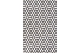 96X120 Rug-Viscose/Hide Honeycomb Charcoal