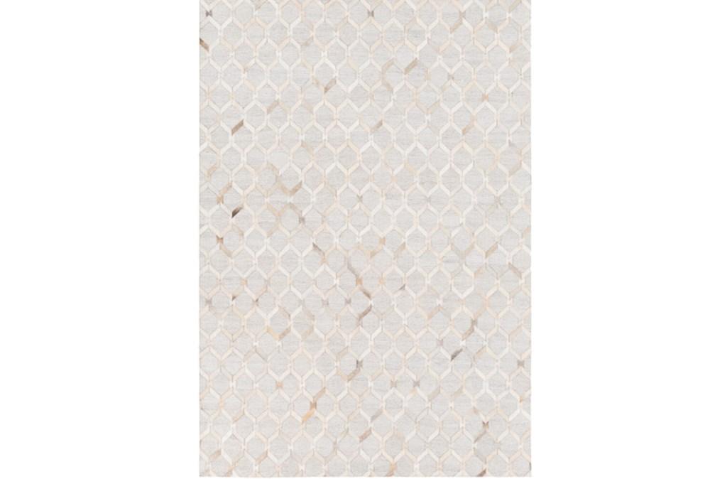 60X90 Rug-Viscose/Hide Honeycomb Camel