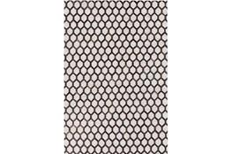 60X90 Rug-Viscose/Hide Honeycomb Black