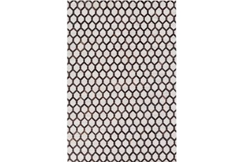 60X90 Rug-Viscose/Hide Honeycomb Black