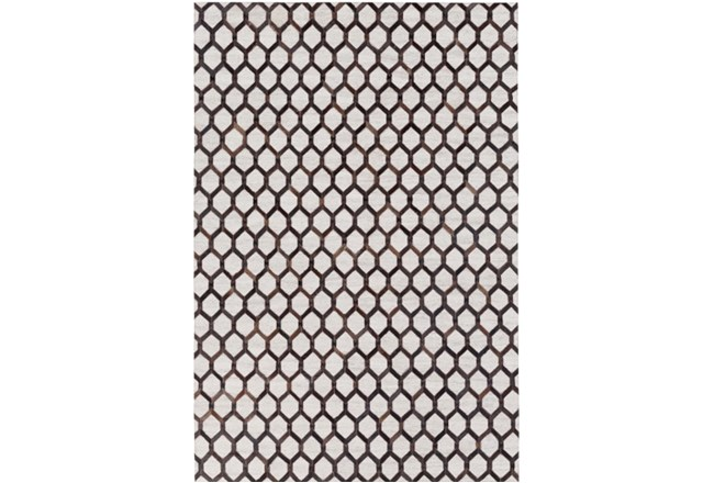 60X90 Rug-Viscose/Hide Honeycomb Black - 360