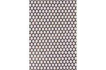 96X120 Rug-Viscose/Hide Honeycomb Black