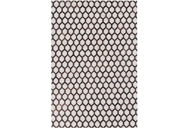 96X120 Rug-Viscose/Hide Honeycomb Black - 360
