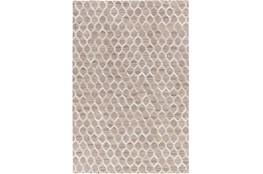96X120 Rug-Viscose/Hide Honeycomb Taupe