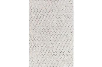 24X36 Rug-Viscose/Hide Honeycomb Light Grey