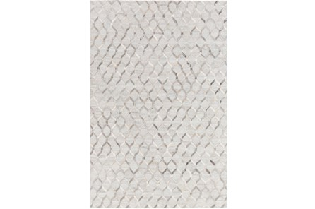 60X90 Rug-Viscose/Hide Honeycomb Light Grey