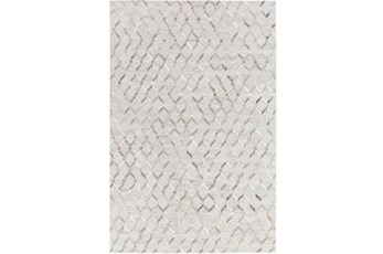 96X120 Rug-Viscose/Hide Honeycomb Light Grey