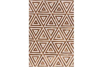 24X36 Rug-Viscose/Hide Triangles Camel