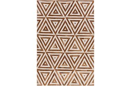 60X90 Rug-Viscose/Hide Triangles Camel