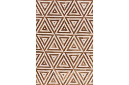 96X120 Rug-Viscose/Hide Triangles Camel
