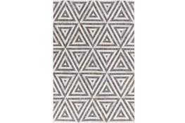 24X36 Rug-Viscose/Hide Triangles Charcoal