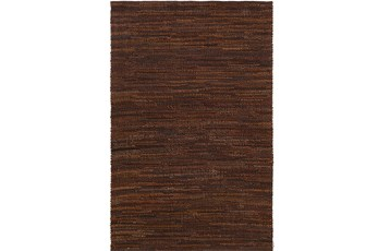 24X36 Rug-Leather Loops Dark Brown