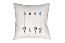Outdoor Accent Pillow-Blue Arrows 18X18