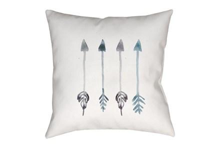 Outdoor Accent Pillow-Blue Arrows 18X18