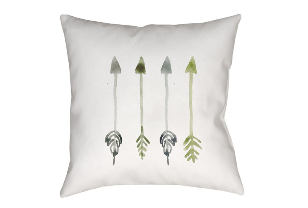 Outdoor Accent Pillow-Green Arrows 18X18