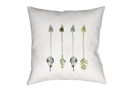 Outdoor Accent Pillow-Green Arrows 18X18