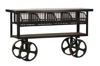Iron & Wood Brown Trolley