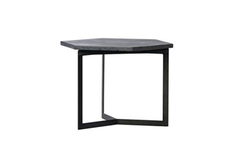 Steel & Concrete Black Coffee Table