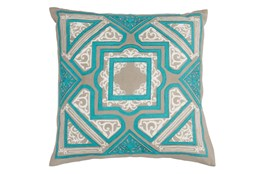 Accent Pillow-Aqua Cathedral 18X18