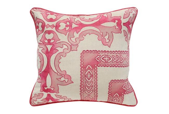 Accent Pillow-Fuschia Tie Dye Scrollwork 18X18 - 360