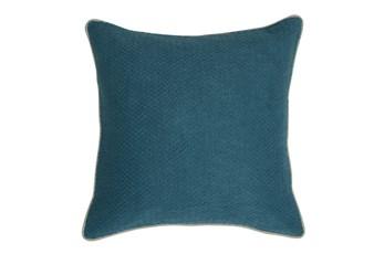 Accent Pillow-Marine Chevron Texture 22X22