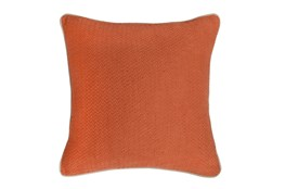 Accent Pillow-Carrot Chevron Texture 22X22