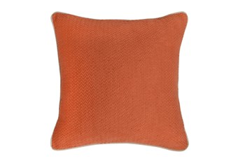 Accent Pillow-Carrot Chevron Texture 22X22