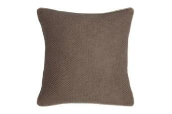 Accent Pillow-Mushroom Chevron Texture 22X22