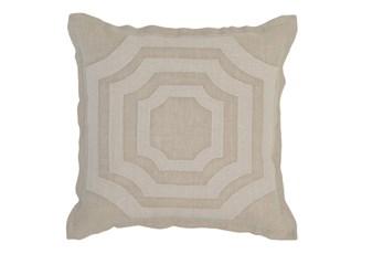 Accent Pillow-Natural Fretwork 18X18