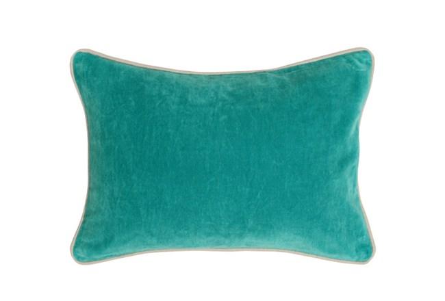 Accent Pillow-Aqua Washed Velvet 14X20 - 360
