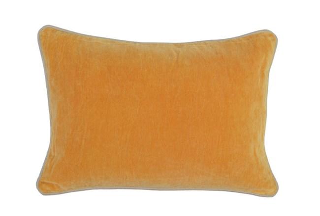 Accent Pillow-Mango Washed Velvet 14X20 - 360